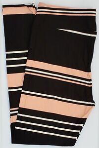 TC LuLaRoe Tall & Curvy Leggings Multicolor Stripes on Black NWT G05