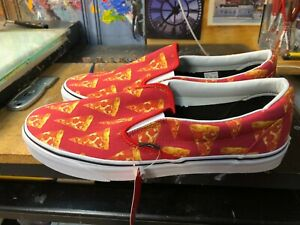 Vans Classic Slip On Late Night Mars Red Pizza Size US 11.5 Men's New Rare