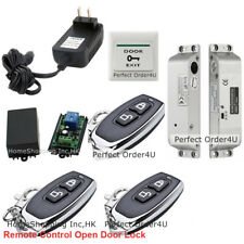 Door Access Control System + Electric Drop Bolt Lock+3 Remote Controls Open Lock
