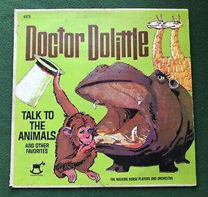 "Doctor Dolittle Talk to the Animals vintage 33rpm LP Vinyl Record Album 12"" cute"