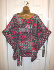 NEW LADIES WALLIS TOP SIZE L 16-18, Pink Paisley floral Kimono Tunic Summer Top