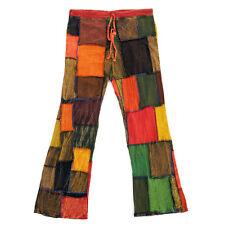 Damen Herren Hippie Jeans Schlaghose Ethno Goa Hose 60er 70er Jahre 36 38 40 S M