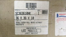 Lee 36x36x10 Screw Cover Pull Box *NEW*