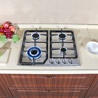 23inch Built in 4 Burners Stainless Steel Silver Cooktops NG/LPG Gas Hob