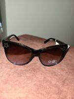 NWT $38 Jessica Simpson Oversized  Tortoiseshell-Blue Sunglasses J5824-TSBL