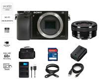 Sony Alpha a6000 24.3 MP Mirrorless Digital Camera w/16-50mm ILCE6000Y/B