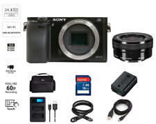 Sony Alpha a6000 24.3 MP Mirrorless Digital Camera w/16-50mm ILCE6000Y/B