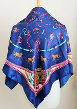BEAUTIFUL SILK / SILK BLEND EQUESTRIAN THEMED HEADSCARF. HORSE HORSES EQUESTRIAN