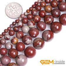 Natural Red Australia Noreena Jasper Gemstone Round Beads For Jewelry Making DIY