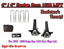 "2002 - 2008 Dodge Ram 1500 2WD 4"" Front 4"" Rear Spindle Block Lift Kit 02-08"