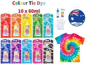 Tie Dye Kit  Color 10x 60m Super Max Vibrant Bright Colour NON-Toxic one step