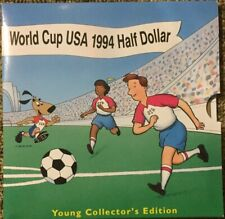 1994 World Cup Usa Clad Half Dollar Coin in Young Collector's Edition Package