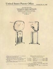 Philco Predicta Barber Pole Television Patent Art - Vintage Antique 1958 TV -737