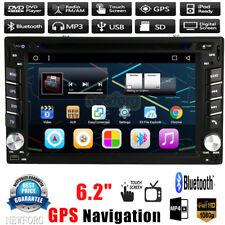 "HD 6.2"" Double 2Din In Dash Car Stereo DVD CD Player GPS Nav BT Radio iPod FM TV"