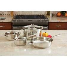 Ever Clad 7pc Heavy-Duty Stainless Steel Cookware Set Pot Pans
