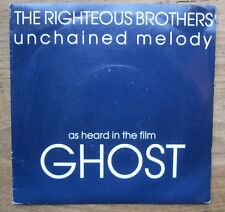 """VG+  RIGHTEOUS BROTHERS - Unchained Melody / Soul and Inspiration  7"""" single VG+"""