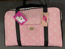 Betsy Johnson Duffel Bag Weekender Stripe Multicolor Travel Luggage Cat Zip Tote