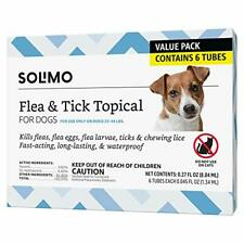 Brand - Solimo for Dogs Medium Dog 23-44 pounds Flea and Tick Treatment 6 Doses