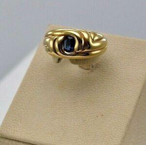 Ring18K Tanzanite Vintage Rose Gold Oval Cut  Rare Style