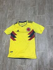 Adidas Colombia Soccer Jersey Womens Size Small Yellow