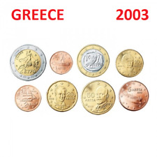 Series 2003 - 8 pieces  Coins  3,88 EURO Greece Grece -1 cent to 2 € EuropaBull