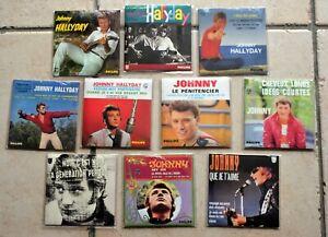 Série complète de 10 CD Single Johnny Hallyday avec code barre - SOUS BLISTER