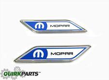 12-13 Dodge Dart 12-13 Fiat 500 Mopar Nameplate Fender Badge Set Of 2 OEM NEW