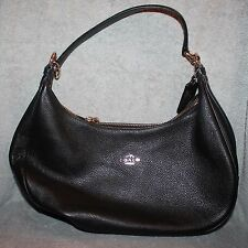 VERY NICE AUTHENTIC COACH BLACK LEATHER SHOULDERBAG PURSE