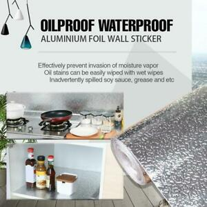 Aluminum Foil Sticker Self Adhesive Oil-proof Waterproof Kitchen Cabinet Wall