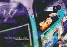 Andrea Bertolini Hand Signed Vitaphone Racing Promo Card.