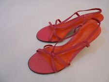 "Ralph Lauren HALLIE Women's Strappy Heels 3"" Pumps Shoes Hot Pink Size 7 B"