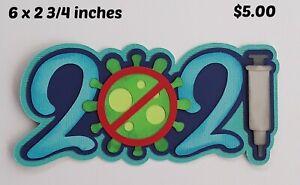 2021 VIRUS TITLE new year scrapbook premade paper piecing 3D die cut by Rhonda