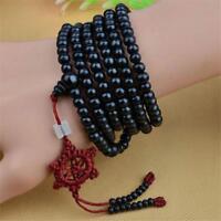 Tibetan Sandalwood Buddhist Buddha 216 Gebetskette Mala Armband Halskette