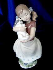 Lladro #8531 My Sweet Little Puppy Brand New In Box Girl In Dress Dog Cute F/Sh