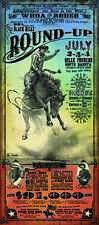 Belle Fourche Round Up S. Dakota Rodeo poster Bob Coronato vintage Seth Bullock