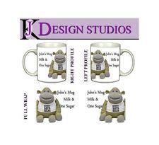 Tea Monkey  Personalised Fan Mug