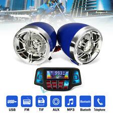 bluetooth Motorcycle Handlebar Audio Radio USB FM MP3 Speaker System Waterproof