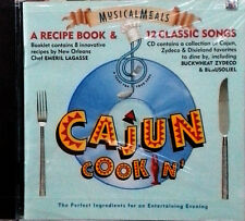 CAJUN COOKIN' - RECIPE BOOK & 12 CLASSIC SONGS - SONY MUSIC PRODUCTS - SEALED CD