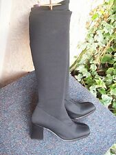 Pull On Textile Upper Cuban Boots for Women