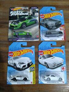 Hot Wheels JDM LOT OF 4!! : Premium Eclipse + 3 Mainlines- Nissan GTR+Supra+RX 7