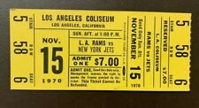 Los Angeles Rams 1970 ORIGINAL NFL ticket vs New York Jets- LA Coliseum