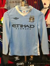 Boys Manchester City home football shirt size SB/134  Umbro 2011-2012