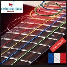 Set jeu de 6 cordes guitares acoustiques COULEURS