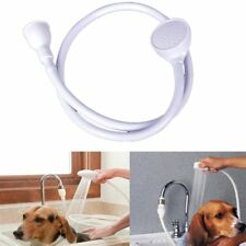 Single Wide Tap Bath Sink Shower Head Hose Spray Hairdresser Pet Push On Mixer