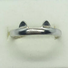 Sterling Silver Cat Design Toe Ring - Ears And Paws - SIZE M