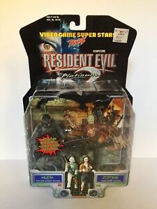 Rare Hunk + Zombie Resident Evil 2 Toy Biz Figure Video Game Superstars 1998