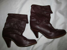 vintage 70's FRYE slouch burgundy leather western mid calf leather boots 6.5 M