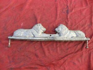 Vintage Lion Cast Aluminum Allied Chain Link Fence Topper
