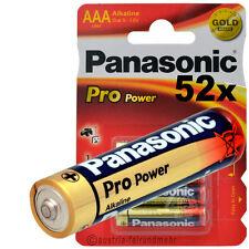 52x PANASONIC PRO POWER MICRO AAA LR3 MN2400 Alkaline Batterie