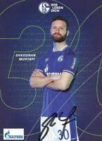 SHKODRAN MUSTAFI - FC SCHALKE 04 - 2020/2021. Originale Unterschrift!